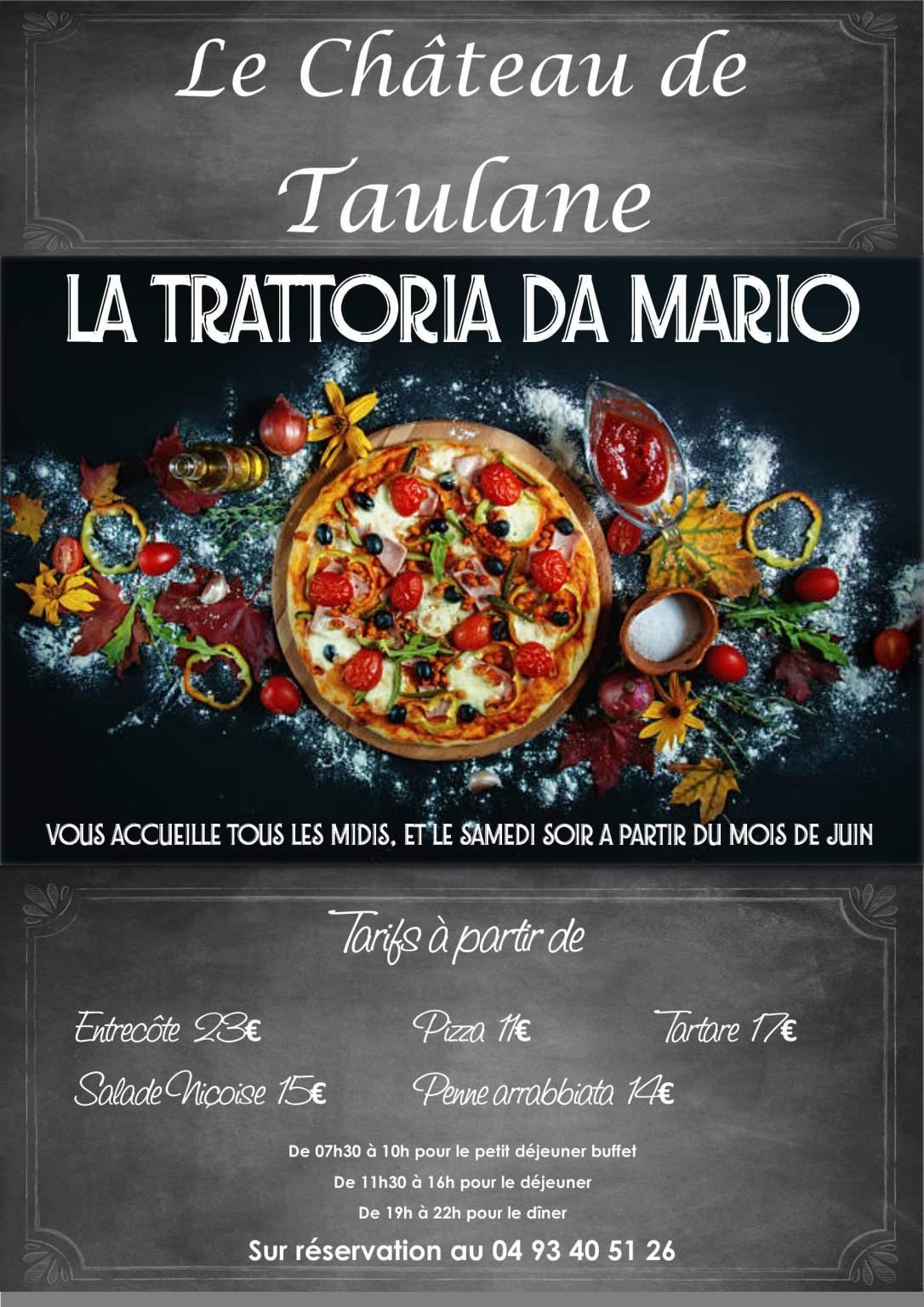 <span>La Trattoria da Mario ouverte le samedi soir de juin à septembre</span>